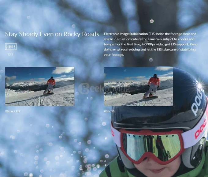 YI-4K-Plus-Ultra-HD-Action-Camera-Ambarella-H2-SONY-IMX377---Black-EIS ワイドレンズ