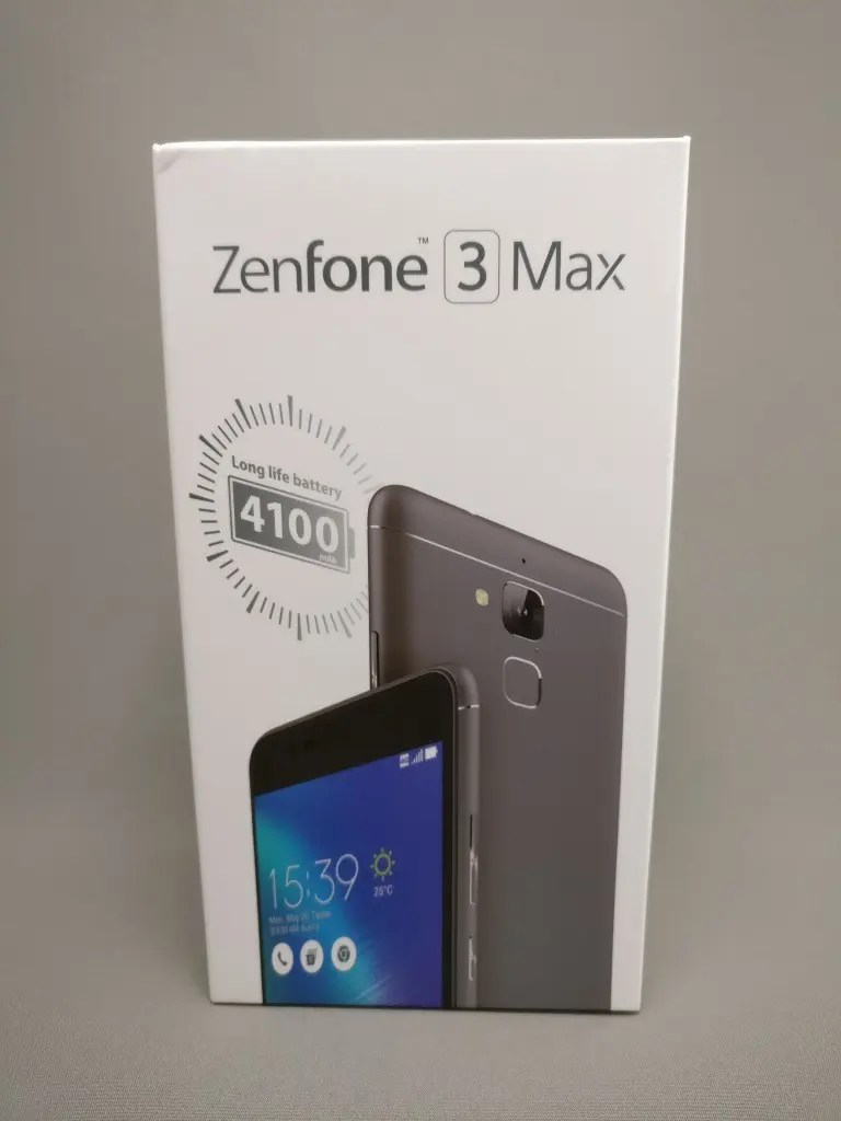 ASUS Zenfone Max 3 化粧箱 表