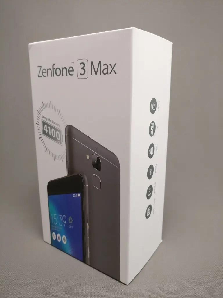 ASUS Zenfone Max 3 化粧箱 表 ななめ