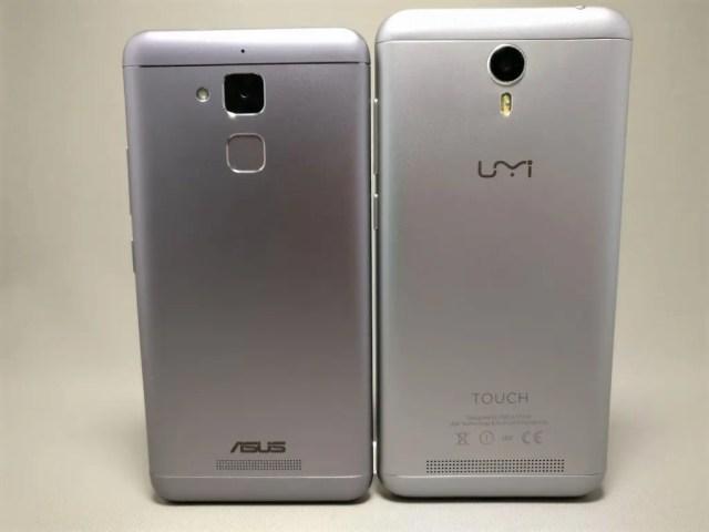 ASUS Zenfone Max 3 と UMI Touchと比較 縦