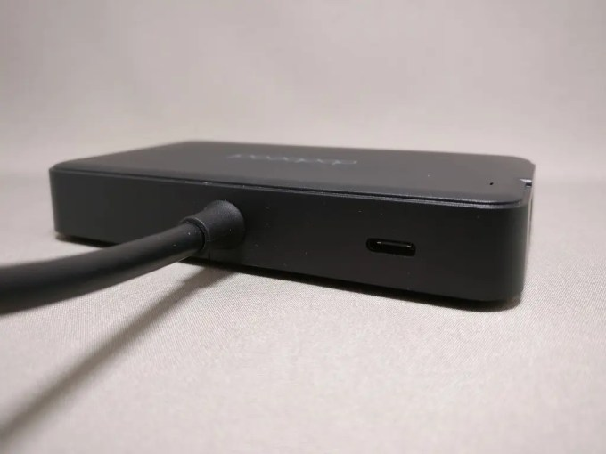 dodocool HDMI D-sub 有線LAN USB3.0 7役 USB-C PDハブ 裏側面 USB PDポート
