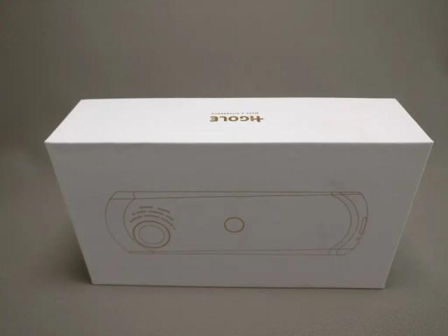 HIGOLE GOLE360 Panorama VR アクションカメラ 化粧箱 横 上