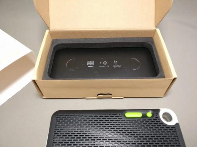iina-style Bluetooth4.1スピーカー IS-BTSP03U 化粧箱 付属品
