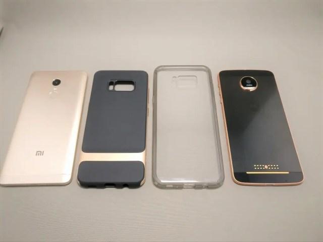 Galaxy S8 S8+ ケース Xiaomi Redmi Note 4XとLenovo Moto Zと比較 2
