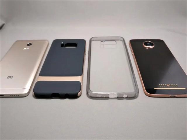 Galaxy S8 S8+ ケース Xiaomi Redmi Note 4XとLenovo Moto Zと比較