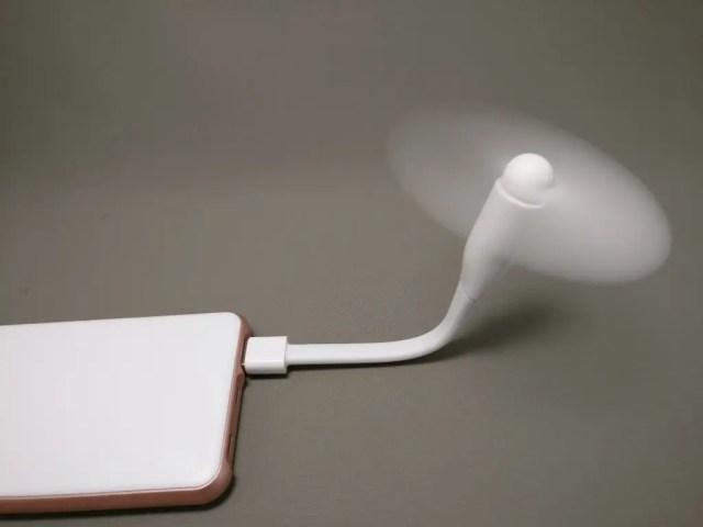 rock space mini USB ファン&ライト ファン動作