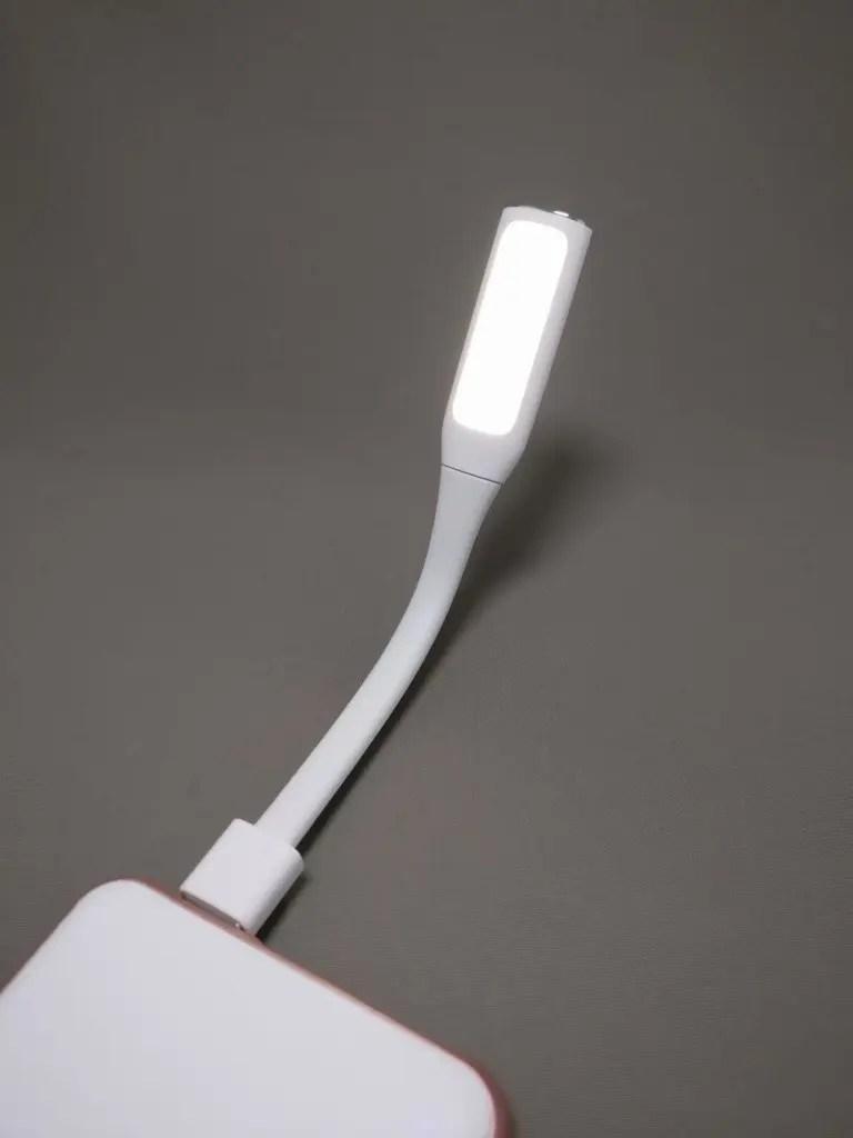 rock space mini USB ファン&ライト LEDライト タッチ オン