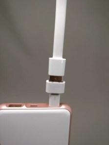 rock space 10000mAh モバイルバッテリー 変換アダプタ 接続