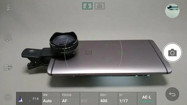 LG V20 Pro カメラ マニュアルモード AE-L