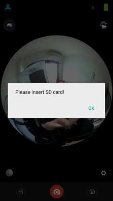 HIGOLE GOLE360 Panorama VR アプリ MicroSDカード入れないと保存できない