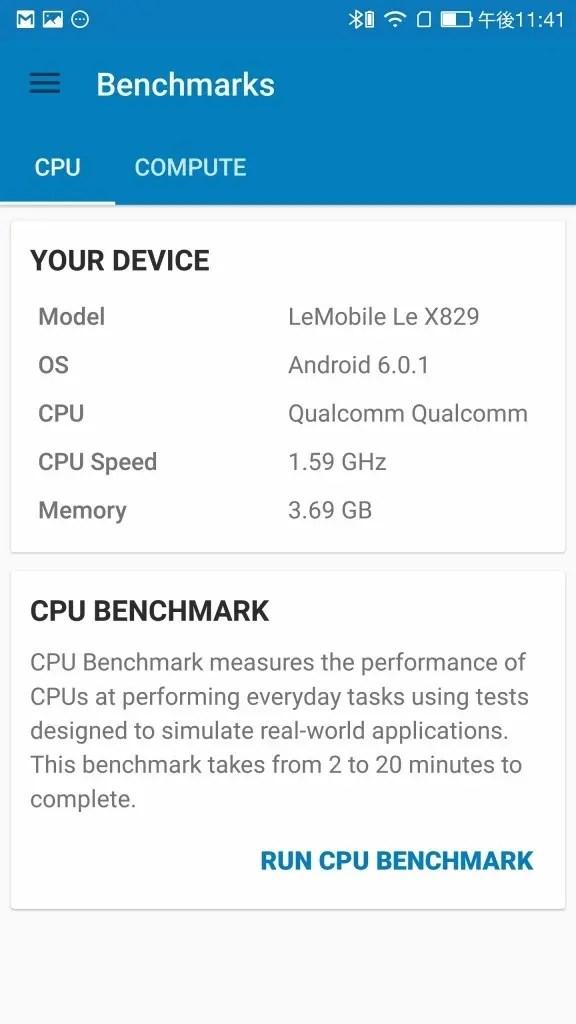 LeEco Le Max 2 X829 GeekBench Device