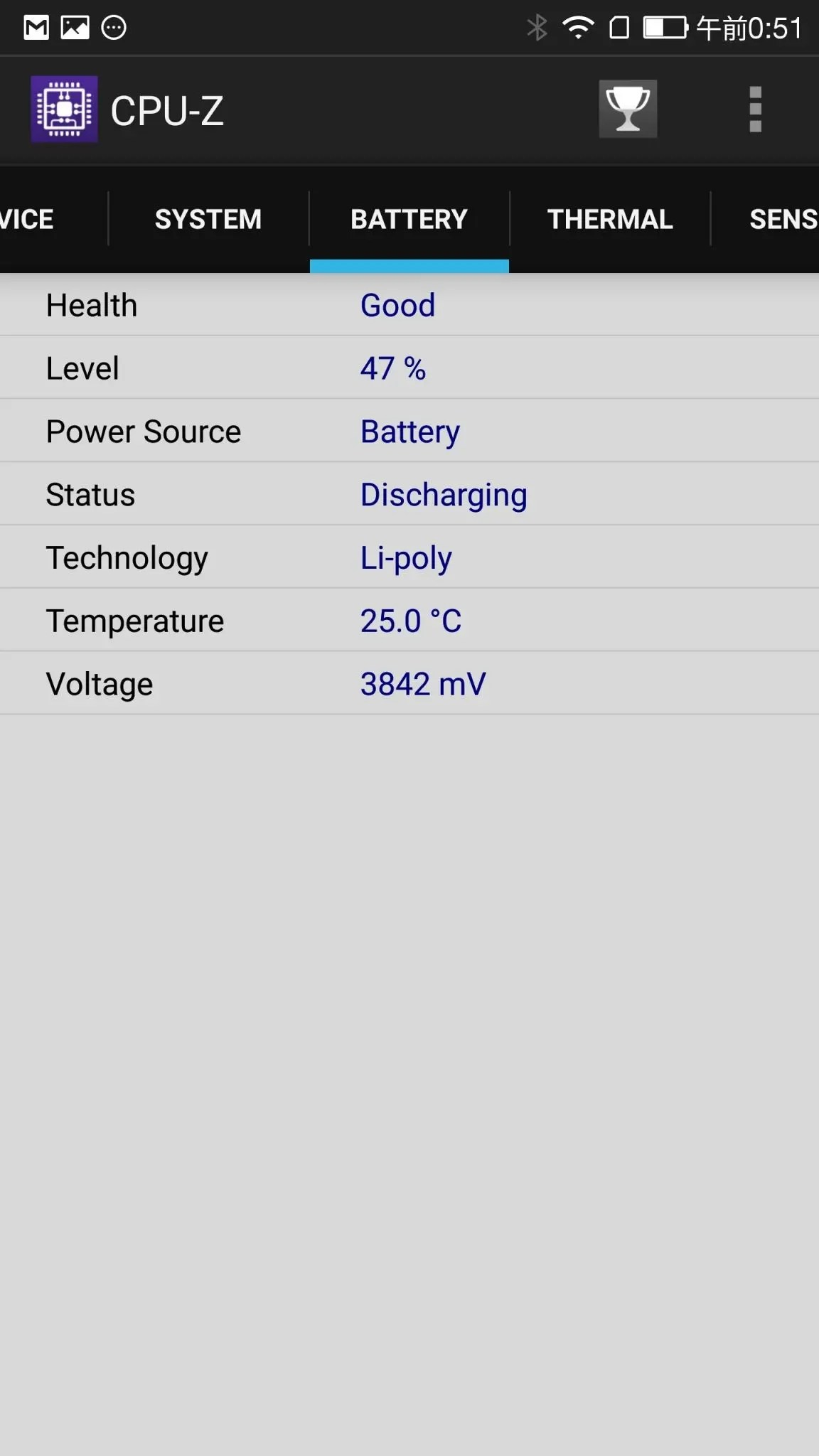 IMG_2017041aLeTV LeEco Le Max 2 X829 CPU-Z Battery