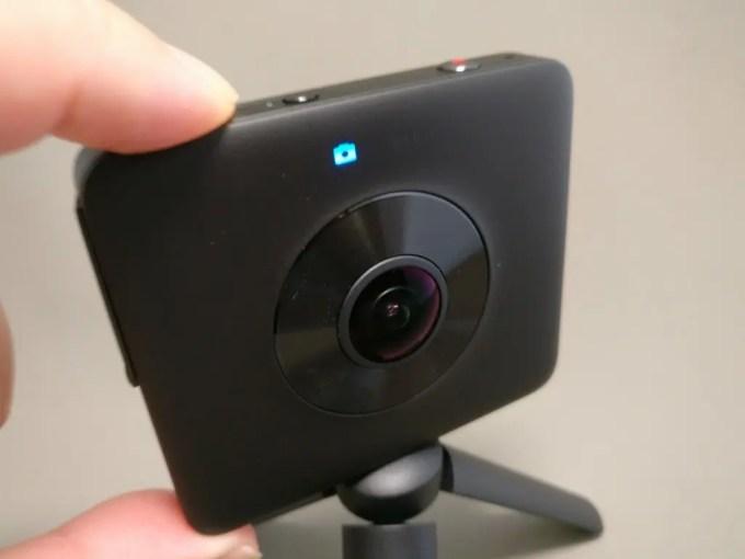Xiaomi mijia 3.5K Panorama Action Camera カメラに切り替え