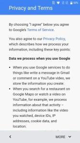 初期設定 Googleアカウント 規約