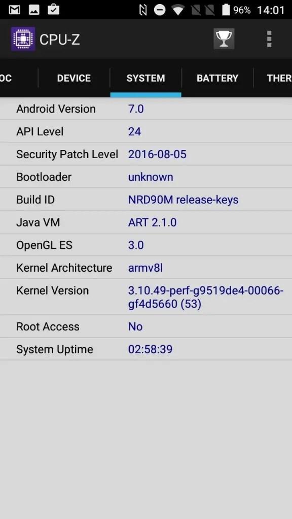 AGM A8 CPU-Z System