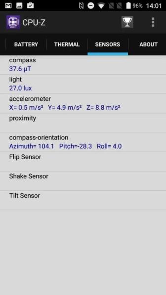 AGM A8 CPU-Z Sensors