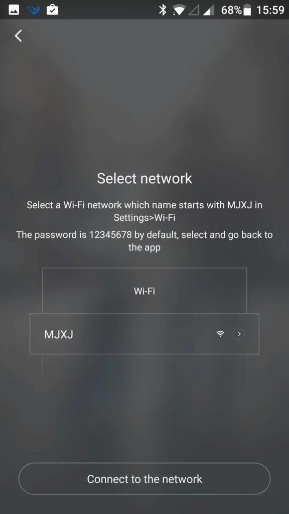 Mi Sphere Cameraアプリ ペアリング 暗証番号12345678