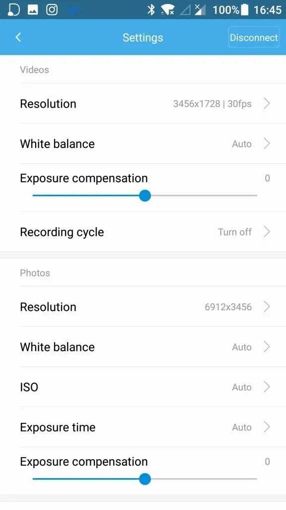 Xiaomi mijia 3.5K 360度カメラ 設定