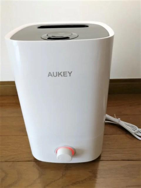AUKEY 加湿器 超音波クールミスト加湿器 電源入れる