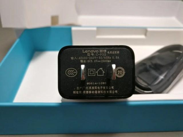 LENOVO Phab 2 Plus 付属品 USBアダプタ 裏