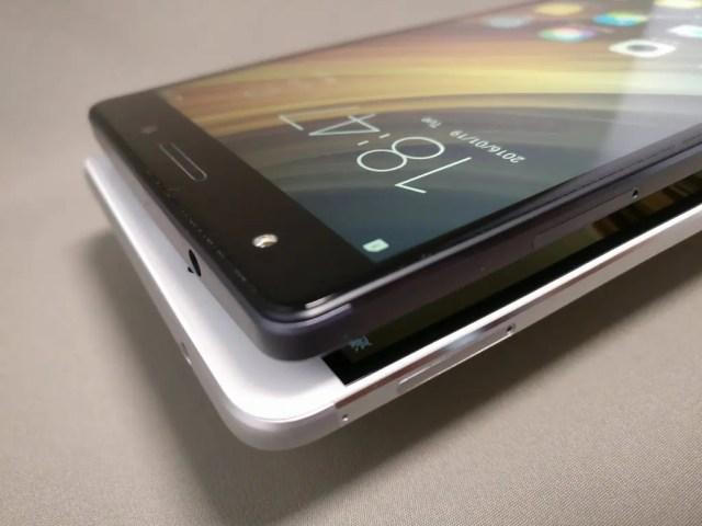 Huawei honor note 8と比較 表 斜め