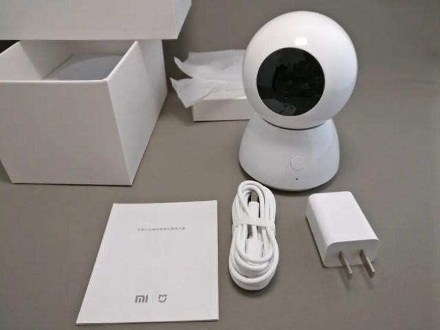Xiaomi 360度パノラマ1080P IPカメラ 化粧箱 開封 付属品
