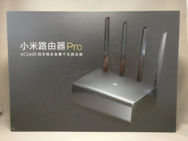 Xiaomi Mi R3P Wifiルーター Pro 化粧箱 表