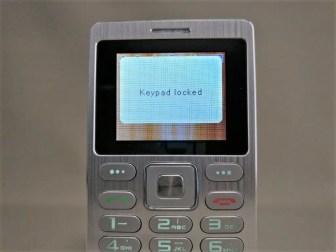 SATREND A10 GSM ミニカードフォン ロック時