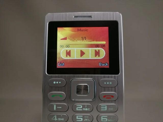 SATREND A10 GSM ミニカードフォン Music1