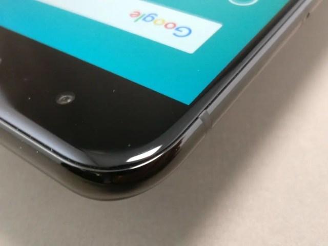 Xiaomi Mi6 ベゼル 上 角