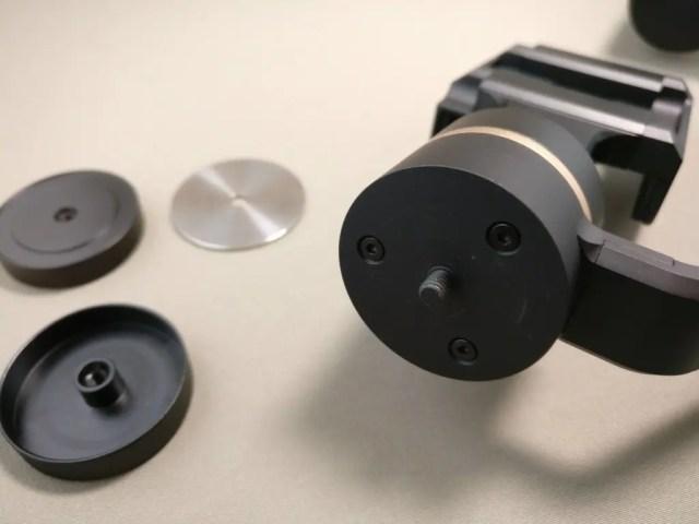 3軸ハンドヘルド ジンバル スタビライザー分銅 装着