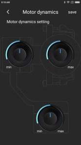 Feiyu ONアプリ 設定 ジンバル モーター ダイナミクス