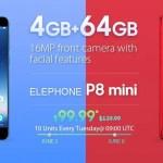 【Geekbuying】ELEPHONE P8 Mini 99.99ドル+5周年記念 キャンペーン