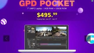 【GeekBuying】GPD Pocket 8GB/128GB Windows10が495.99ドル プレセール キャンペーン!