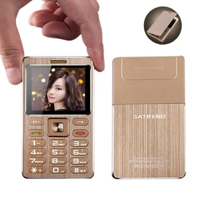 SATREND A10 1.77 Inch 480mAh Bluetooth GSM Metal Fuselage Ultra-thin Mini Card Phone