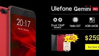 【Banggood】Ulefone Snap-upキャンペーン Gemini Proが159.99ドルで買えるチャンス!