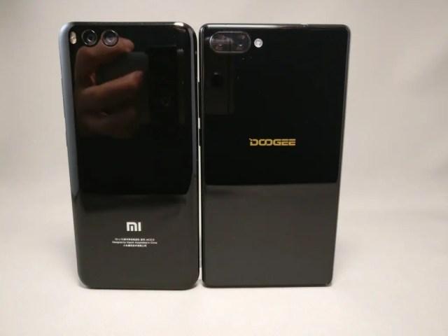 DOOGEE MIX・Xiaomi Mi6 裏