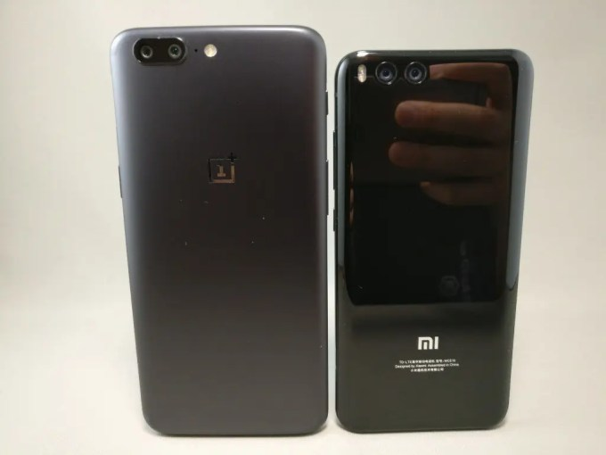 OnePlus5とXiaomi Mi6 兄弟