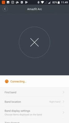Xiaomi Amazfit A1603 スマートバンド ペアリング 失敗