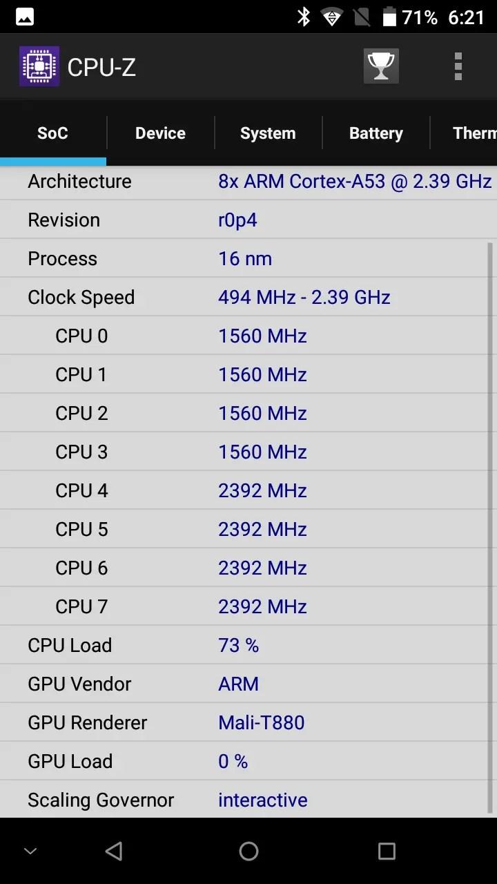 DOOGEE MIX CPU-Z2