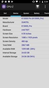 OUKITEL K10000 Pro CPU-Z2