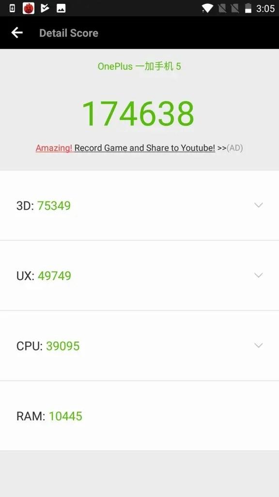 OnePlus5 Antutu174638