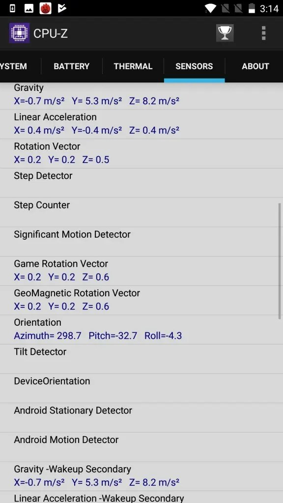 OnePlus5 CPU-Z9