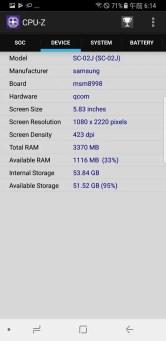 Galaxy S8 CPU-Z 4