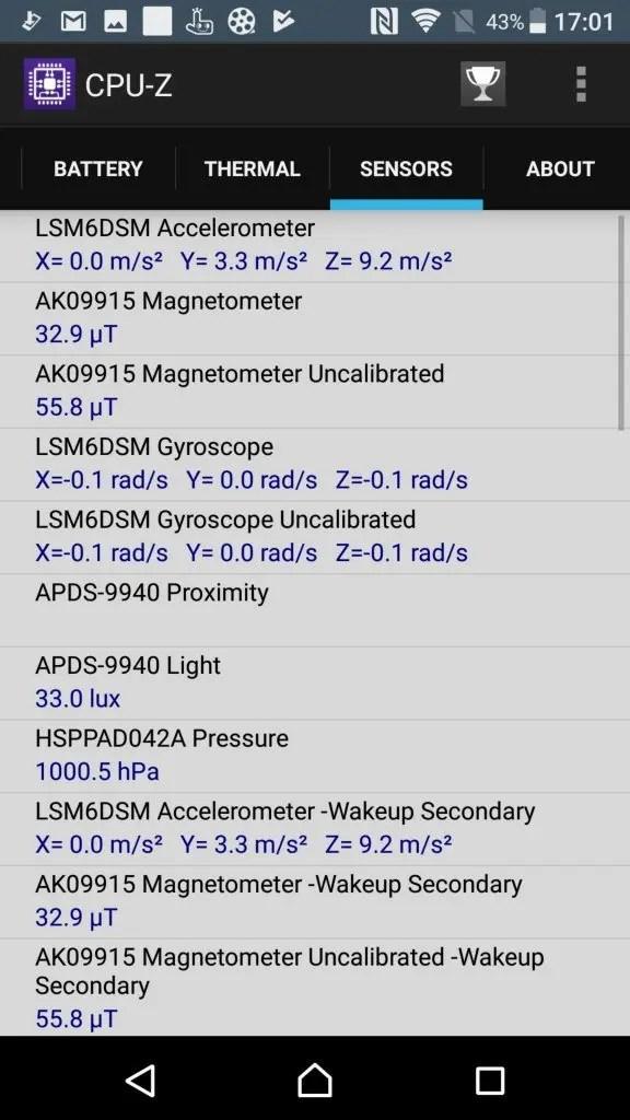 Xperia XZ Premium CPU-Z 8