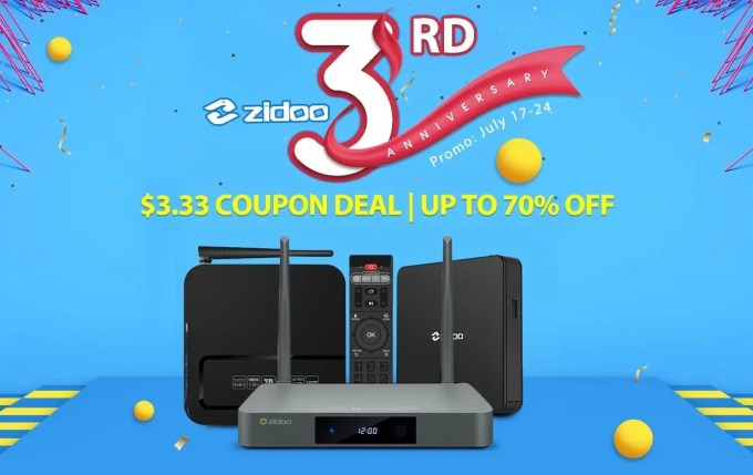 Zidoo TV BOX 3周年記念セール