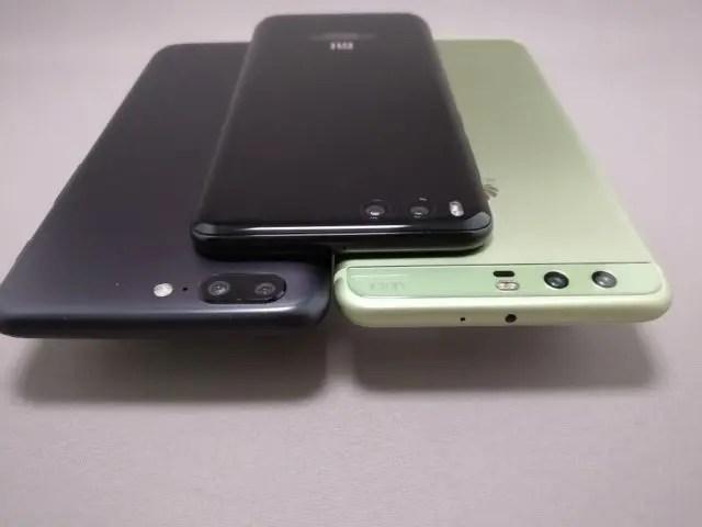 Huawei P10 Plus 他機種とサイズ比較 1