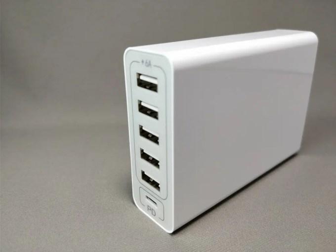 dodocool 60W 6ポート USB急速充電器 右