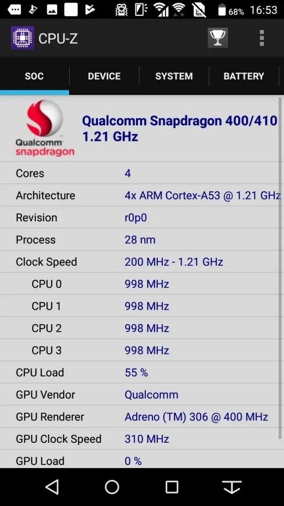 Arrows Be F-05J CPU-Z 1