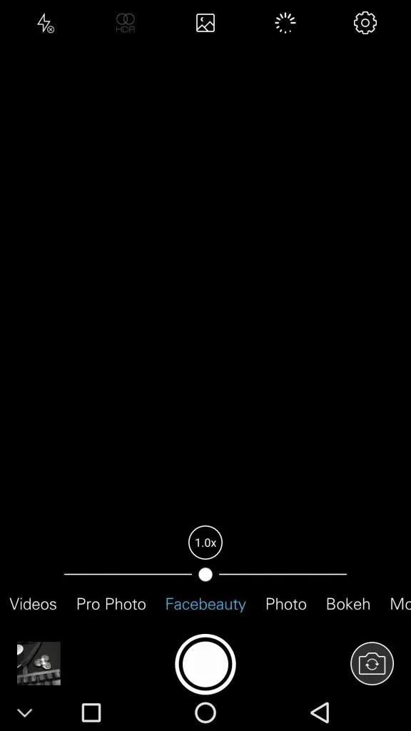 Ulefone Gemini Pro カメラアプリ Facebearty
